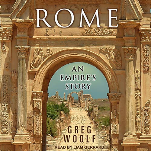 Audiobook cover of 'Rome' narrated by Liam Gerrard.